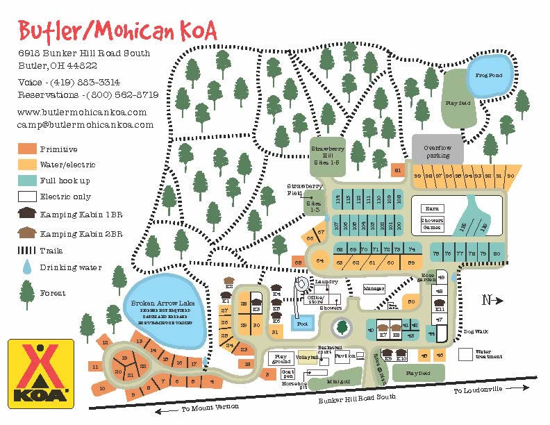 Activities, attractions and events for the Butler / Mohican KOA RV Park in Ohio