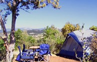 Individual tent sites with great views