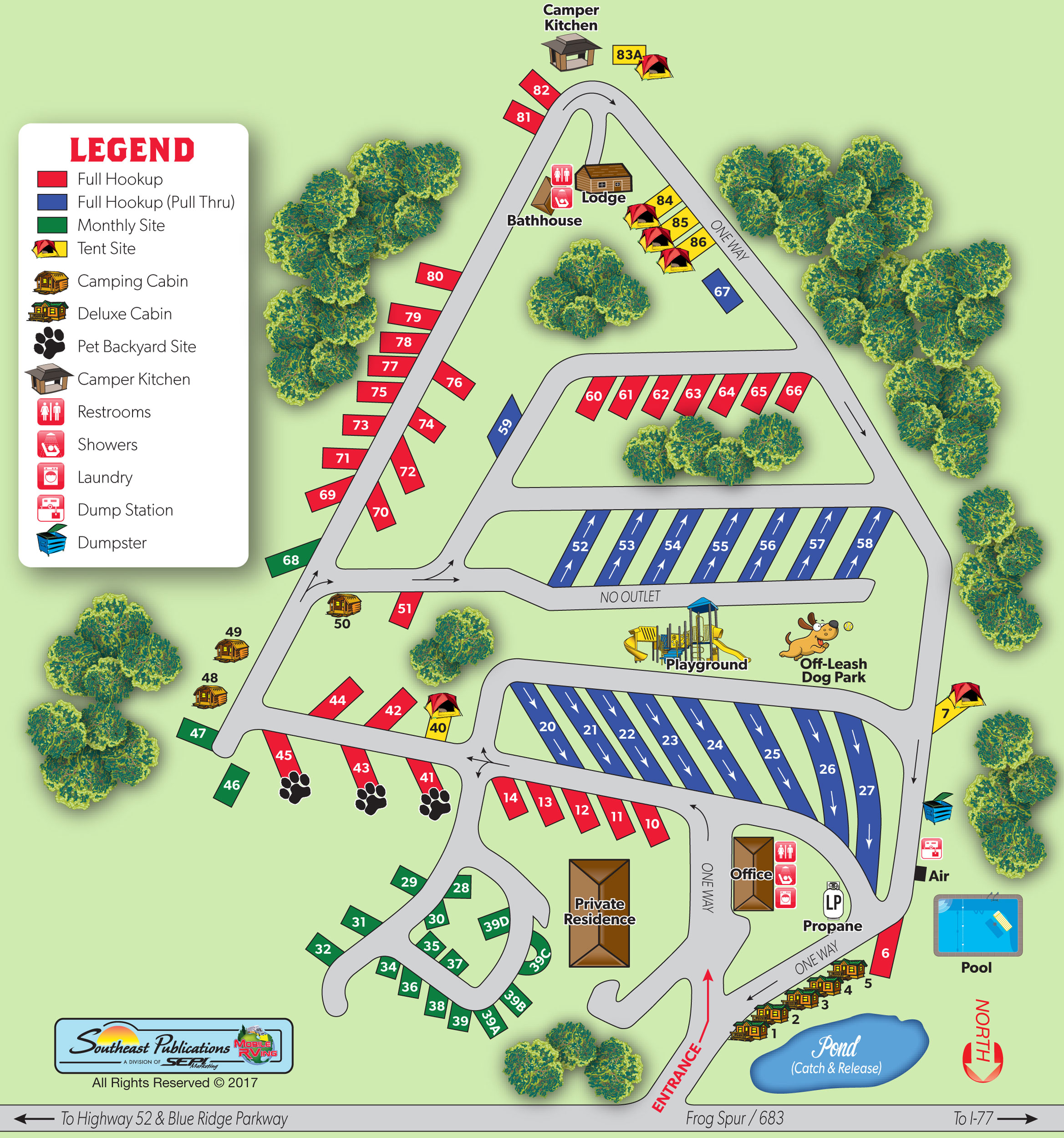 Sitemap: Fancy Gap, Virginia Campground