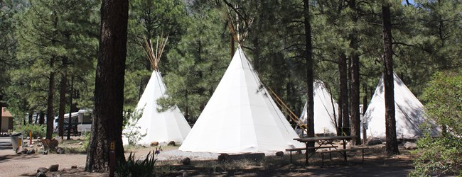 We have 6 authentic teepee's!