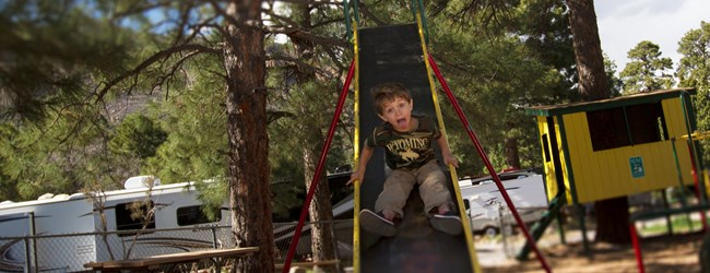 A Kids Campground Playground in Flagstaff