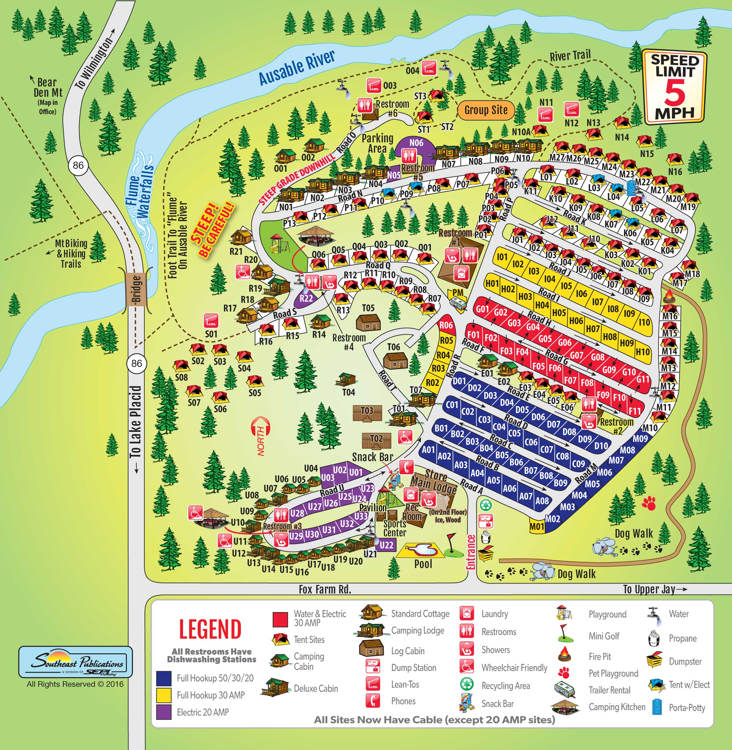 Site Map: Wilmington, New York Campground