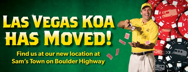 Las Vegas KOA has moved