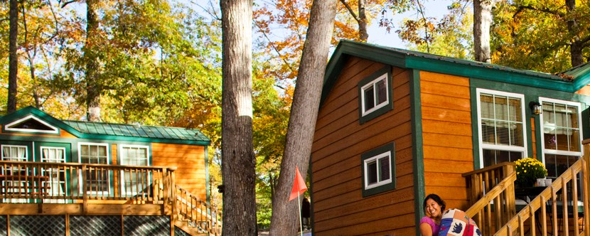 Fall Is a Great Time to Try These Hotel-Style Cabins!
