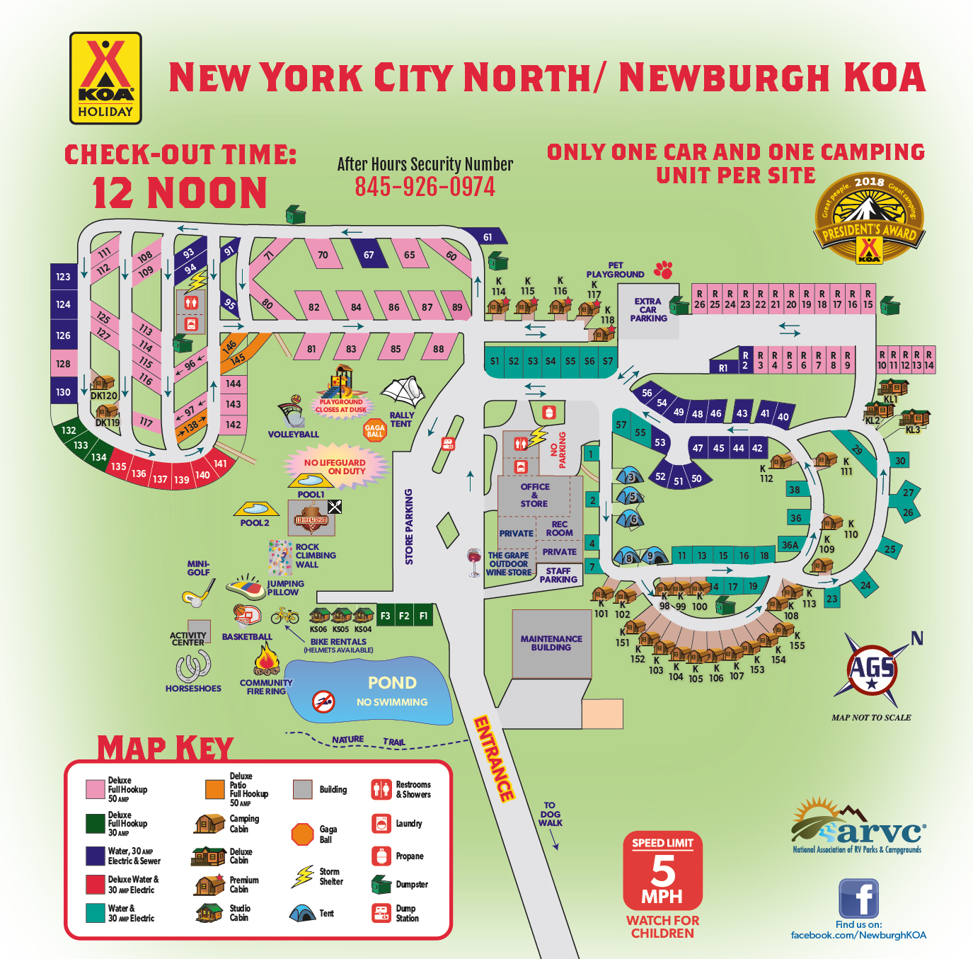 Experience Sitemap: New York City North / Newburgh KOA