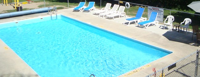Our heated pool is waiting for you