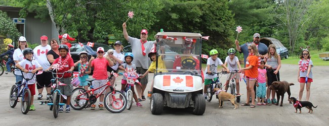 Our Canada D'Eh Bike and Dog Parade!