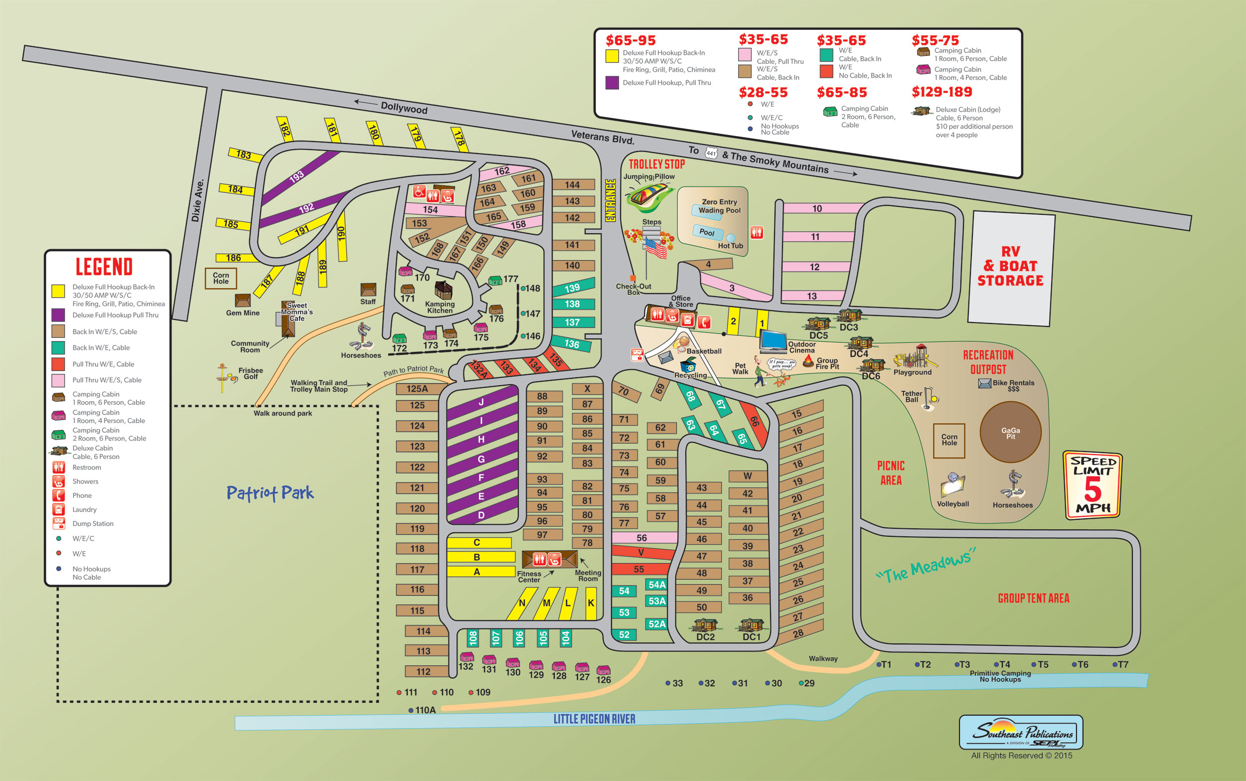 Pigeon Forge Tennessee Area Attractions and Activities – Pigeon Forge Tourist Map