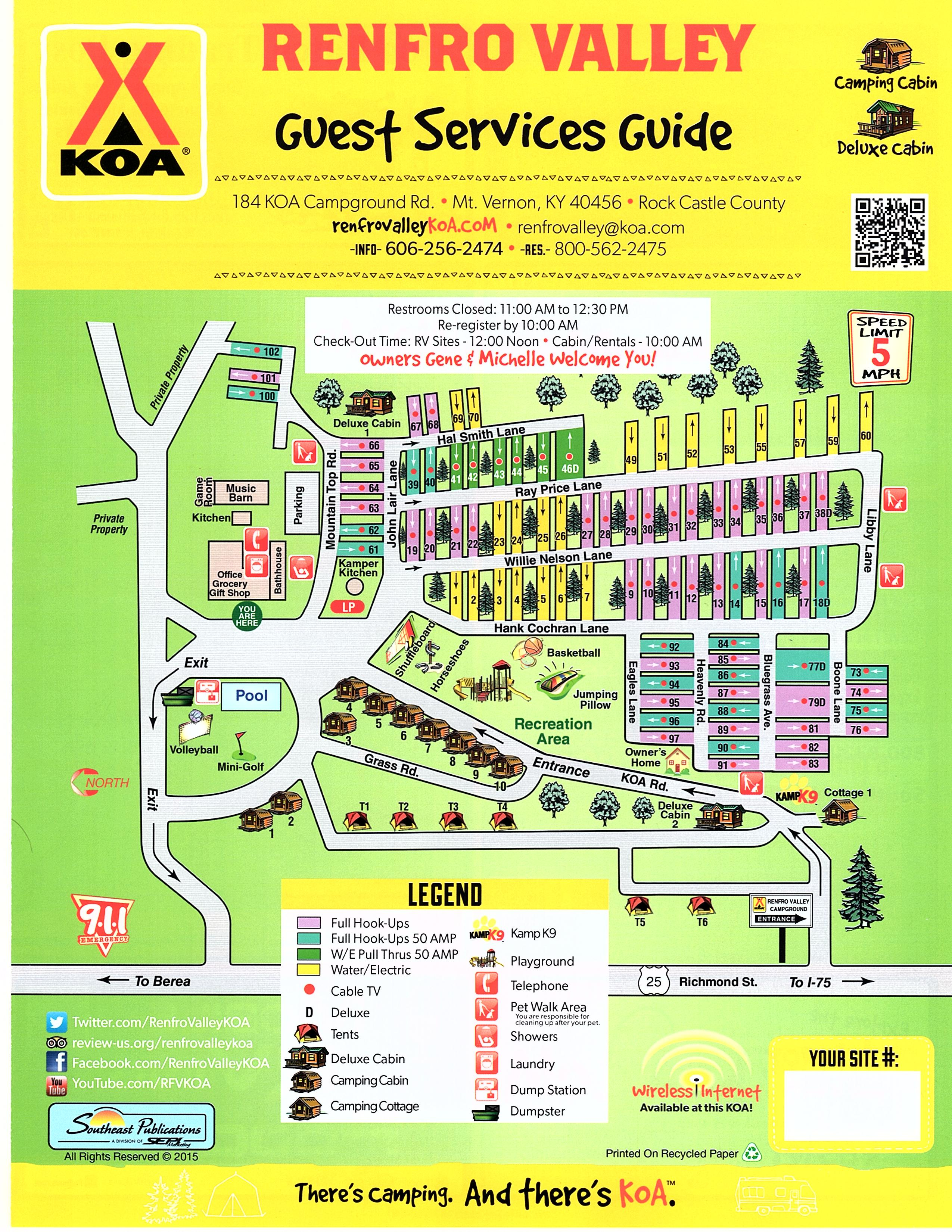 Mt Vernon Kentucky Campground Renfro Valley KOA