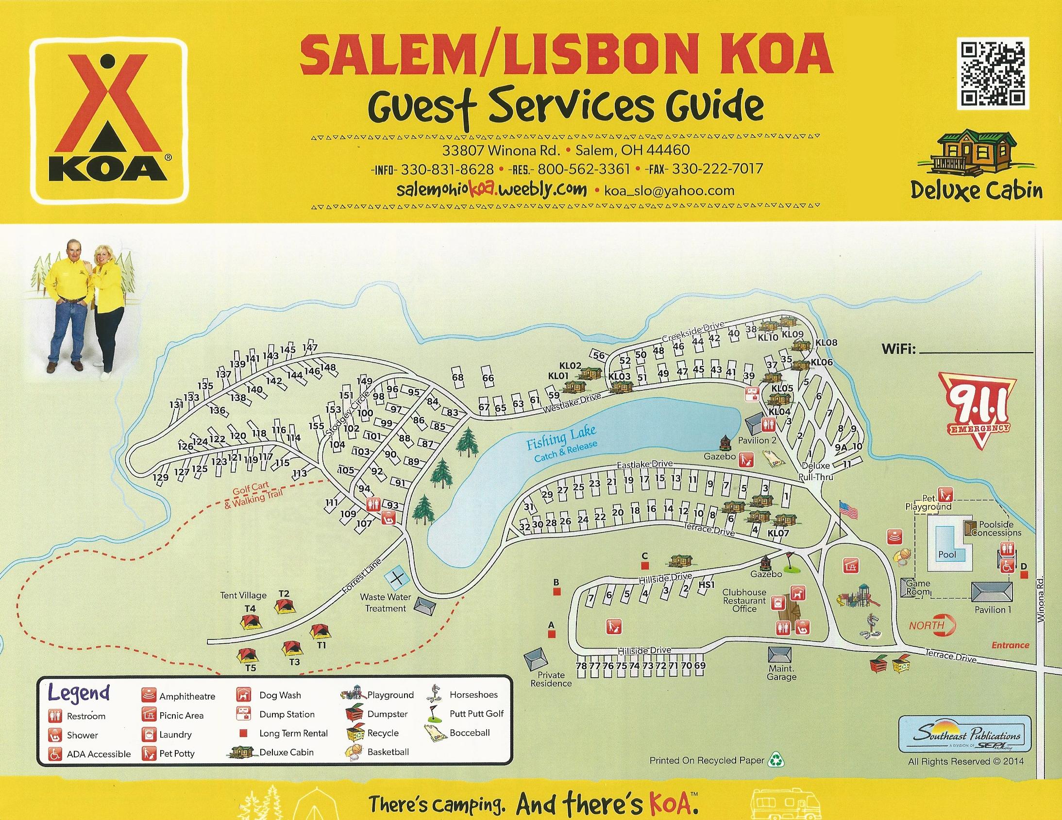 Salem Ohio Campground Salem Lisbon Ohio Koa