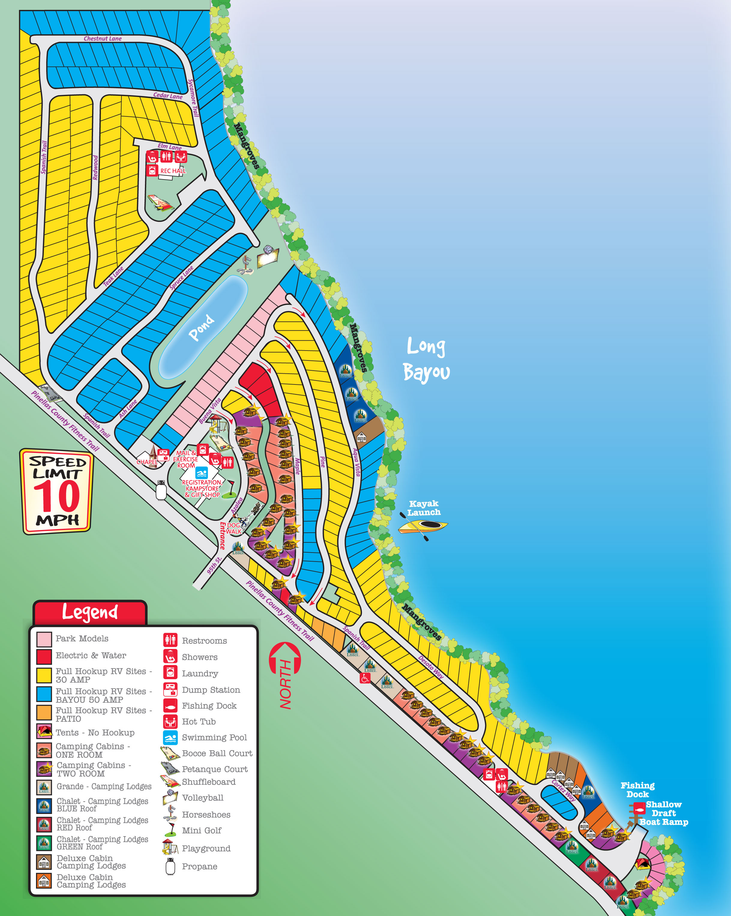 St Petersburg Florida Campground St Petersburg  Madeira - Florida map beach