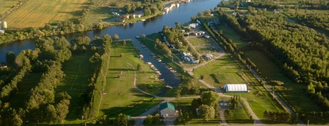 Aerial Shot of Sturgeon Falls KOA