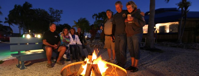 Campfires with friends cap perfect Florida days