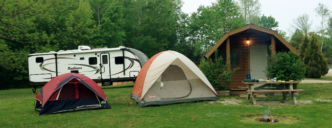 RV & Tent Sites & Camping Cabins
