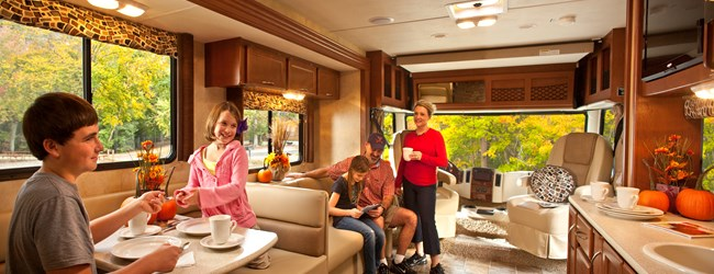 Family Inside RV