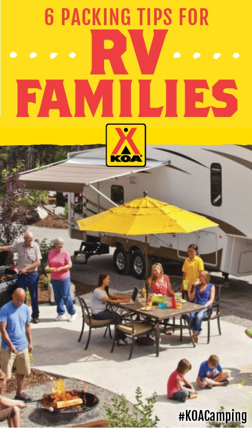 6 Great Packing Tips for RV Families #KOACamping