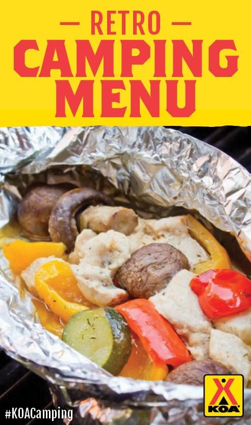 Retro Camping Menu Meal Ideas KOACamping