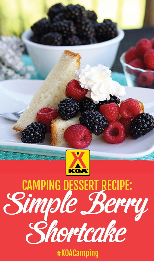 Simple Berry Shortcake Recipe #KOACamping