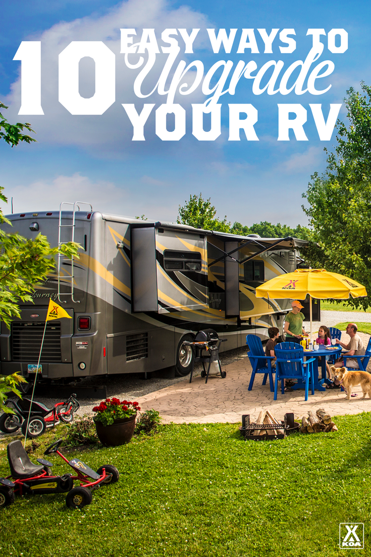 10 Easy Ways to Upgrade Your RV - A few simple additions can take your RV from off-the-lot to totally personalized!