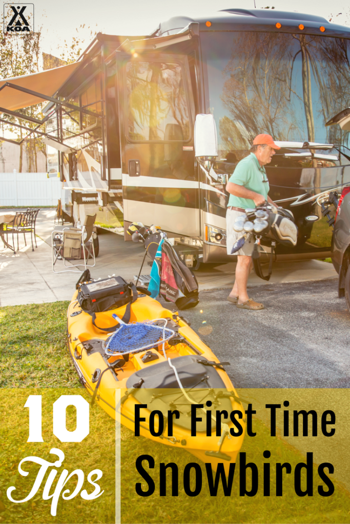 10 Tips for First Time Snowbirds