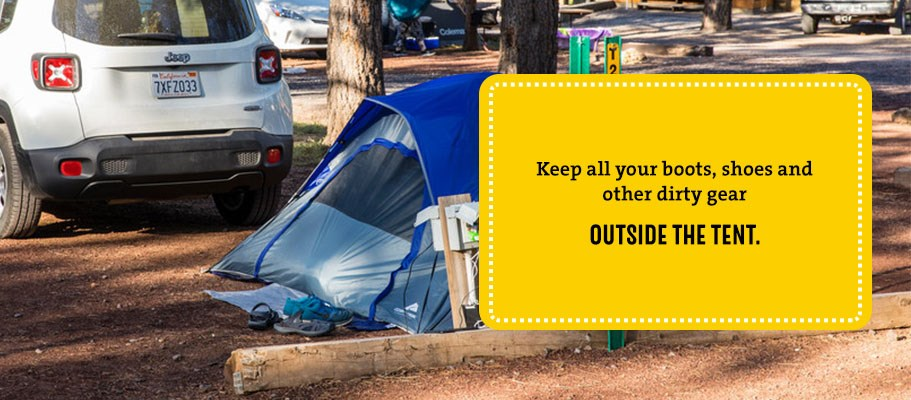Keep things outside your tent