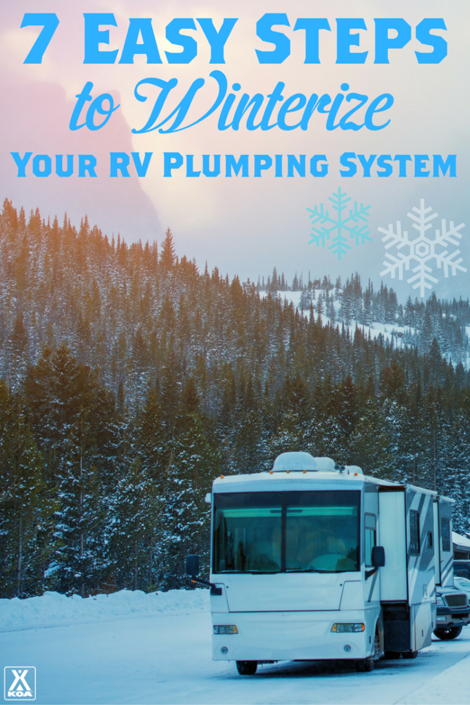 7 Easy Steps to Winterize Your RV Plumbing System