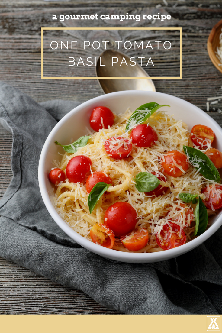 Add a bit of gourmet to your camping menu with this easy and tasty pasta recipe.