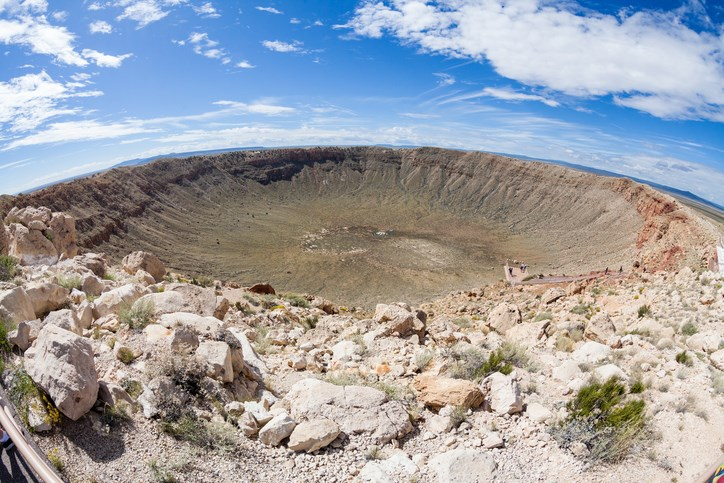 Meteor Crater near Flagstaff in Arizona
