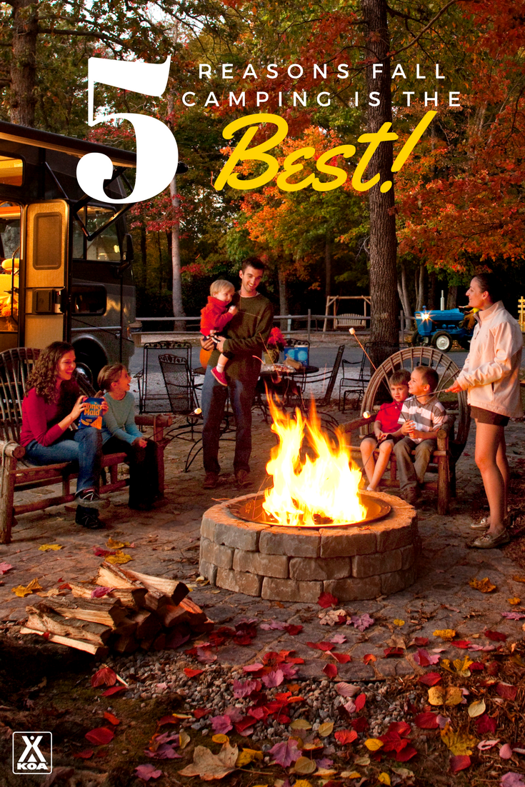 As if you needed more reasons to camp, check out some favorite things about fall.