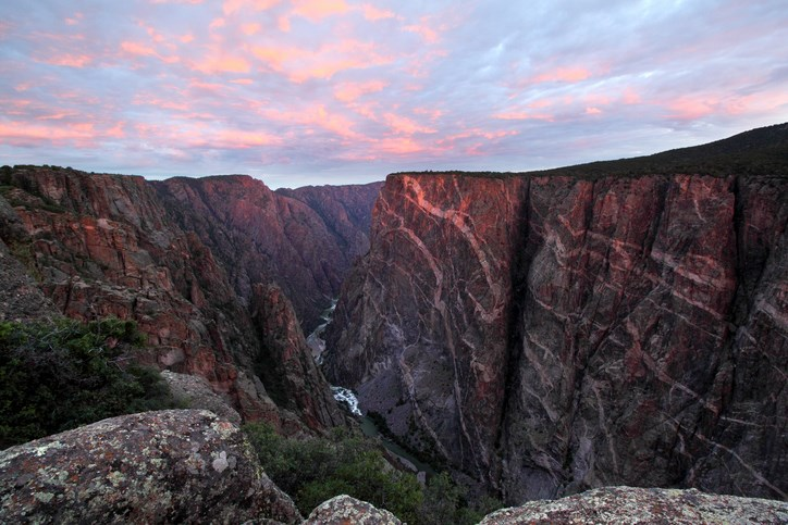 Sunrise at Black Canyon, Colorado