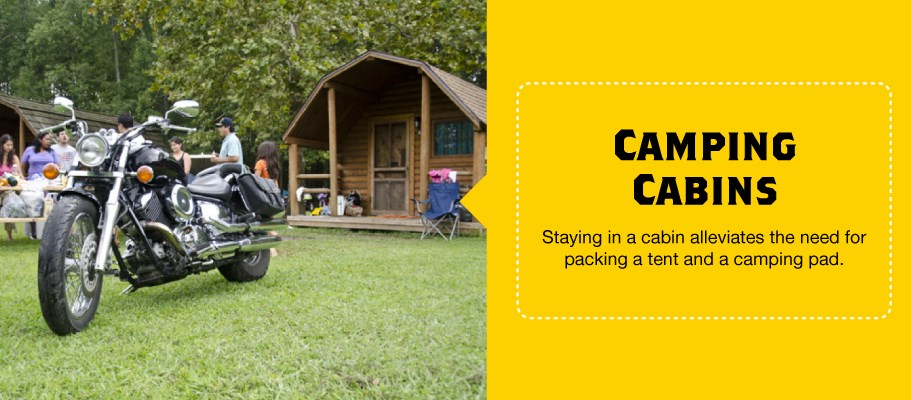 Cabins for Motorcycle Camping