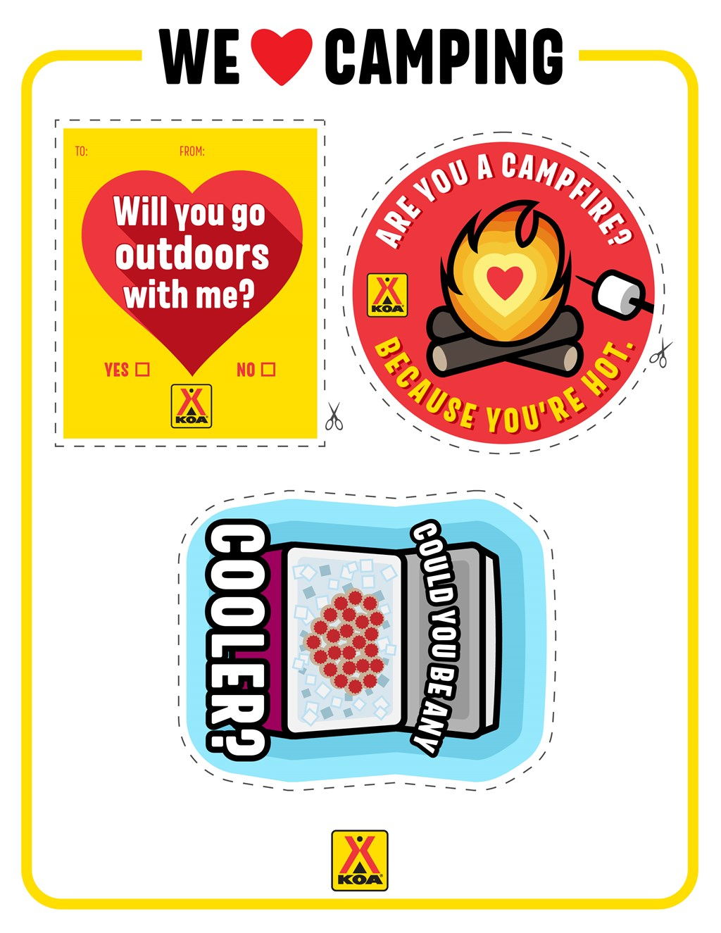 Printable Camping Valentines 2