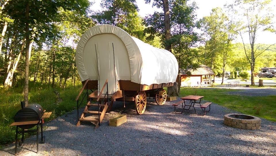 Conestoga Wagon at Delaware Water Gap Pocono Mountain KOA Holiday