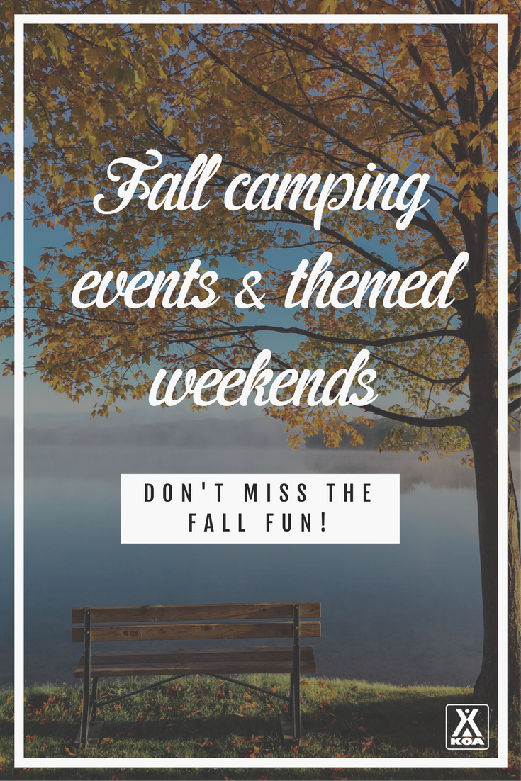 Don't miss these awesome campground events this fall!