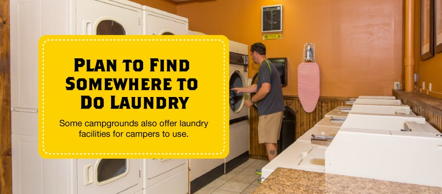 Find a Campground with Laundry Facilities When Motorcycle Camping