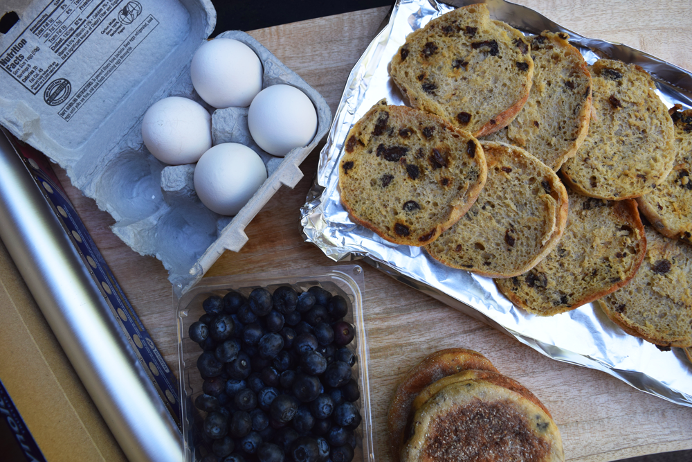Blueberry English Muffin French Toast