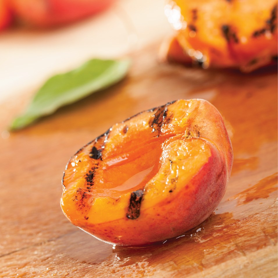 Grilled Pound Cake With Peaches