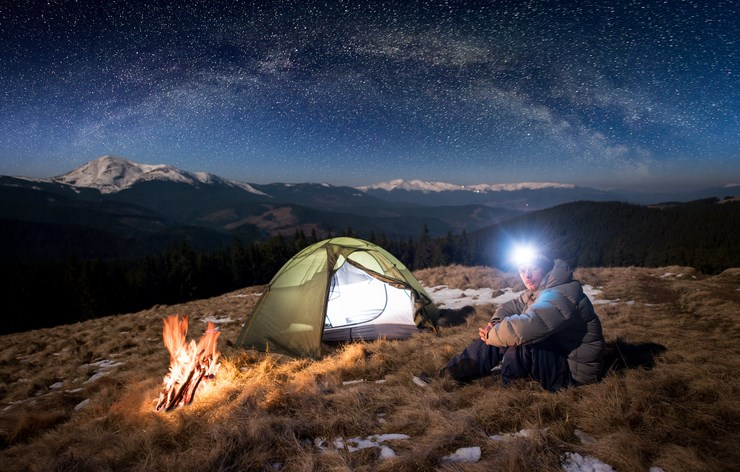 Headlamps are great for camping