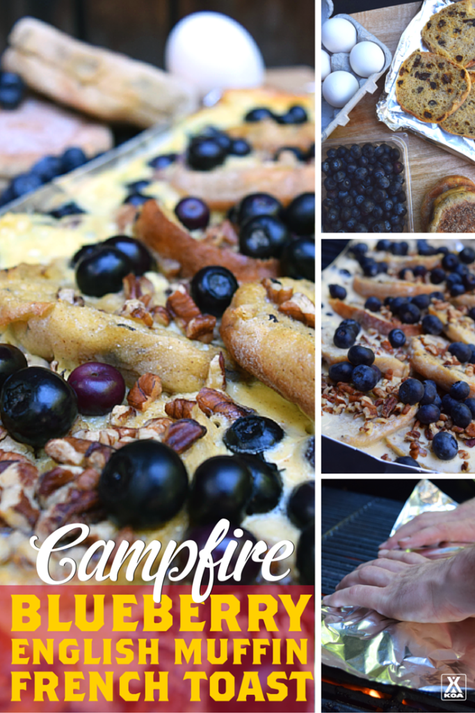 How To Make Campfire Blueberry English Muffin French Toast