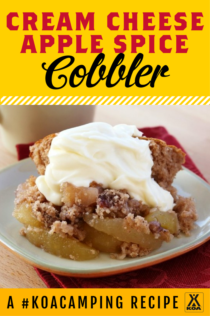 How to Make Cream Cheese Apple Spice Cobbler