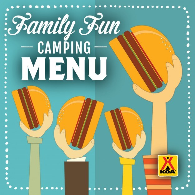 KOA Family Fun Camping Menu