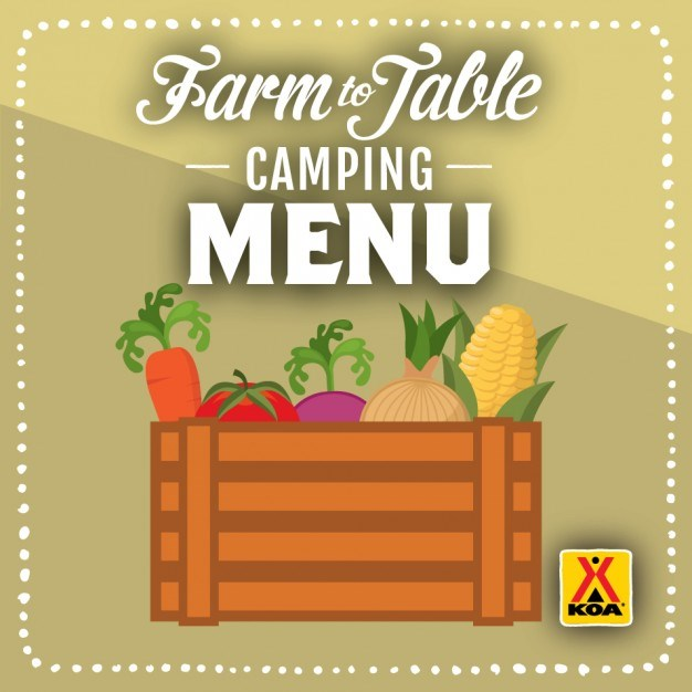 Farm to Table Camping Menu
