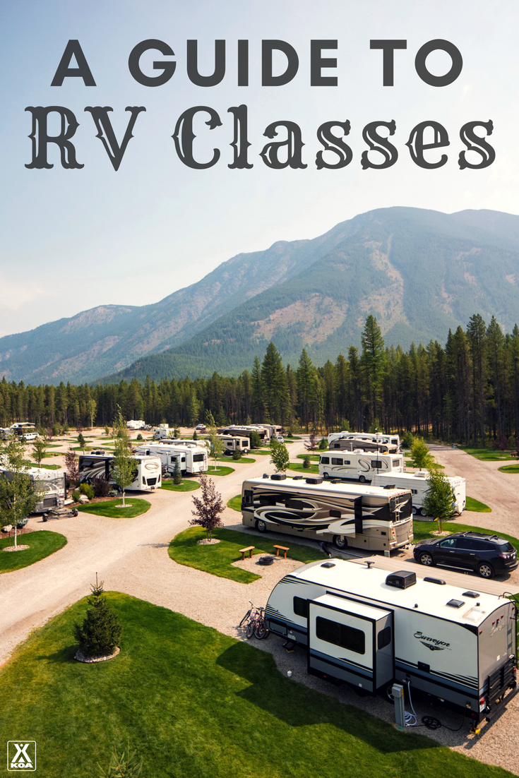 Learn about the different classes of RVs and decide which motorhome or travel trailer is right for you.