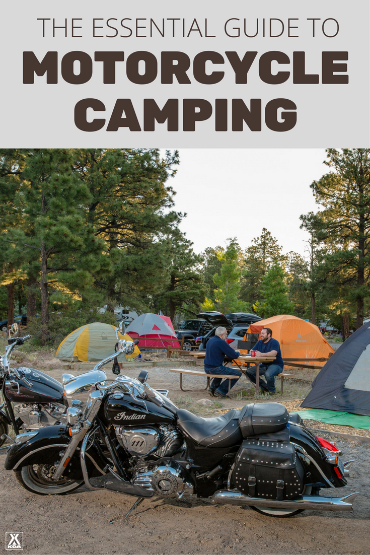 Learn everything you need to know about motorcycle camping.