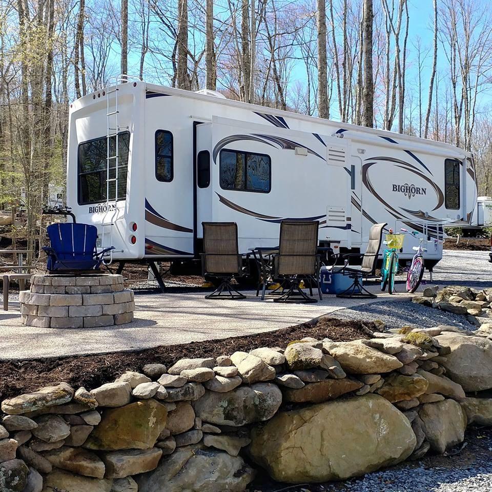 Patio RV Site at Gatlinburg East Smoky Mountain KOA
