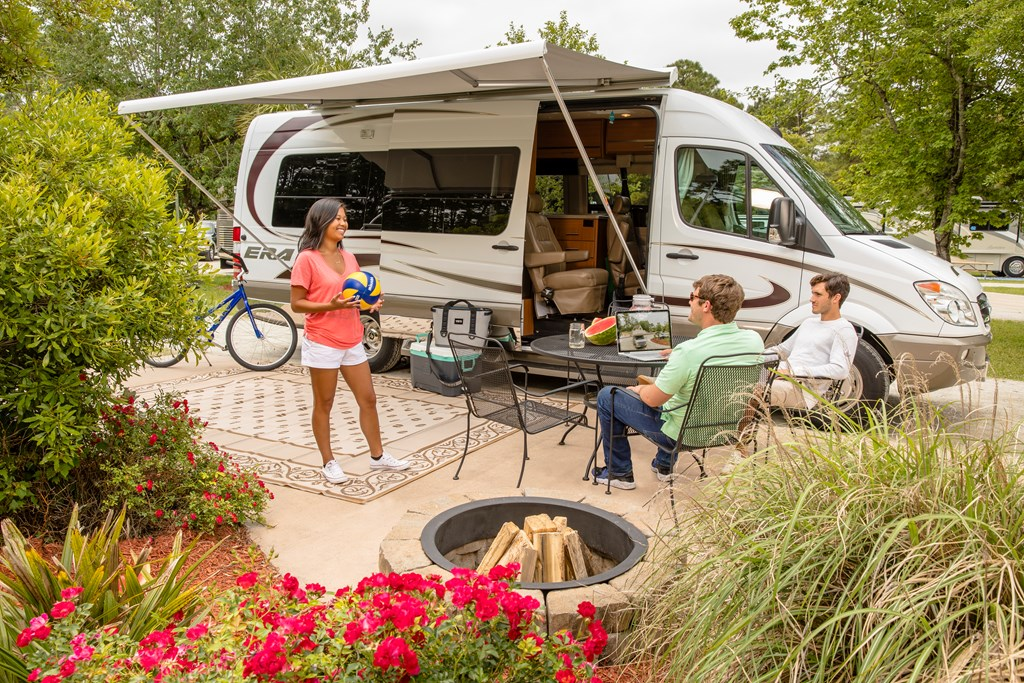 Perfect RV site at KOA Campground