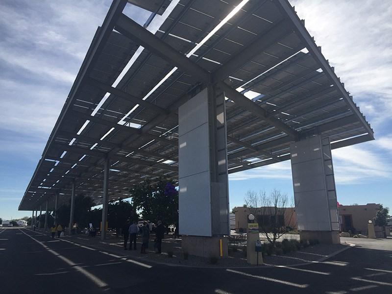 Koa Installs First Of Its Kind Solar Shade Structure Koa