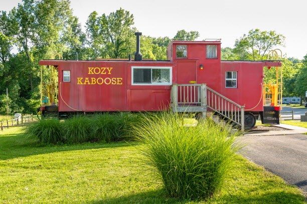 Stay in a Caboose or Train Car at KOA
