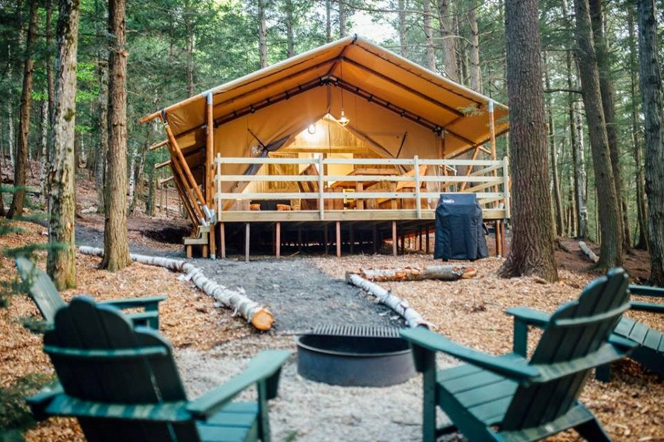 Stay in a Glamping Tent at KOA
