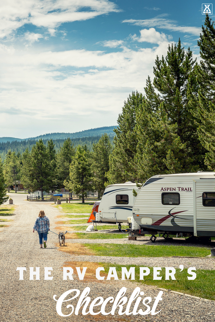 The RV Camper's Checklist - Use our handy list to hit the road with ease!